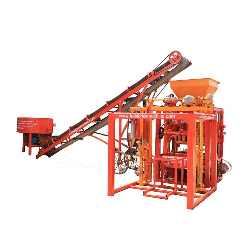 Cement Brick Machine Semi Automatic Paver Interlocking Block Moulding Machine